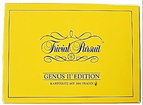 Trivial Pursuit Genus II Edition, Kartensatz