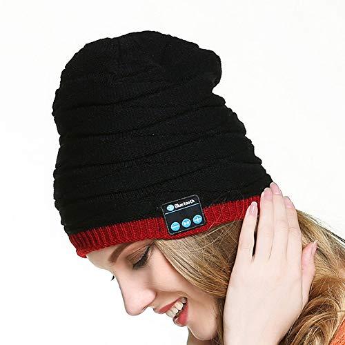 JSX Winter Bluetooth cap, USB oplaadbare ingebouwde warm houden intelligente Bluetooth 4.1 muziek knippen hoed met koptelefoon
