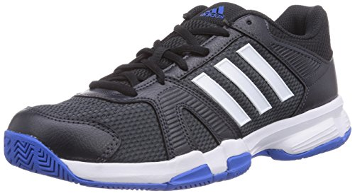 adidas Performance Herren Barracks F10 Hallenschuhe, Grau (Dark Grey/FTWR White/Bright Royal), 47 1/3 EU