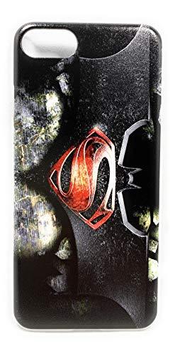 ECHC Superhero Hard Plastic Clip-On Case Compatible for iPhone (Batman VS Superman, 7 and 8)