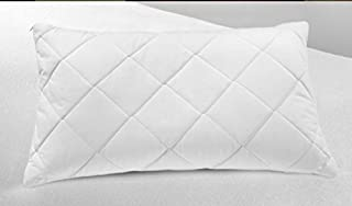 Homes & Deco - Juego de 2 almohadas acolchadas de mezcla de algodón con relleno de fibra hueca