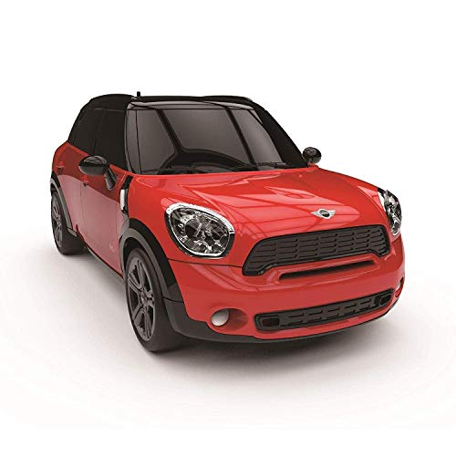 CMJ RC Cars  Mini Countryman JCW Coche de control remoto con licencia oficial Luces de trabajo a escala 1:24 2.4Ghz Rojo
