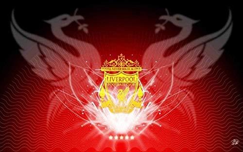 LLYMGX Puzzle Rompecabezas De Madera 1000 Piezas De Rompecabezas para Adultos Juego Niños Rompecabezas Juguetes Decoración del Hogar Paisaje Liverpool Logotipo Fútbol Y Regalos De Cumpleaños
