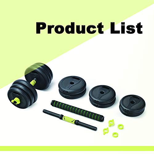 Adjustable Weight Dumbbells Set For Men And Women.20KG Barbell Dumbellsweights Set.Strength Training Equipment At Home Or Gym