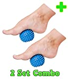 HealthyNees 2 Ball Combo Set Plantar Fasciitis Therapy Foot Arch & Back Pain Spiky Massaging Hard Roller