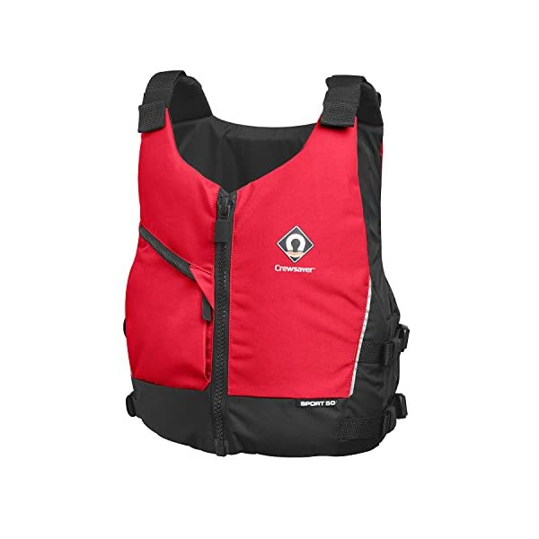 Crewsaver Sport 50N Kayak Dinghy Sailing PFD Buoyancy Aid for Watersports Red for a competitive price