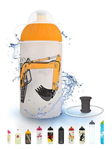 FreeWater Trinkflasche, 500 ml, Bagger: schadstofffrei, spülmaschinengeeignet, auslaufsicher, langlebig