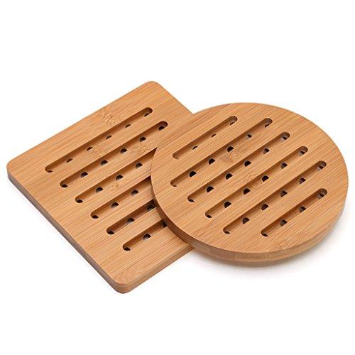 CJH Verdikte Isolatie Pad Tafel Bamboe Mat Tafel Mat Bowl Kussen Plaat Mat Pot Keuken Thuis Hittebestendige Hot Pad