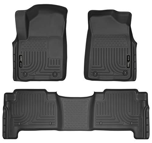 Husky Liners - 98611 Fits 2011-13 Infiniti QX56, 2014-18 Infiniti QX80, 2017-18 Nissan Armada Weatherbeater Front & 2nd Seat Floor Mats Black