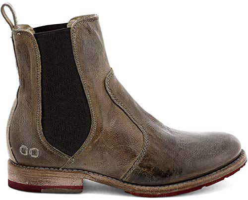Bed Stu Nandi Women's Leather Short Boot - Pull On Chelsea Ankle Bootie - Taupe - 8