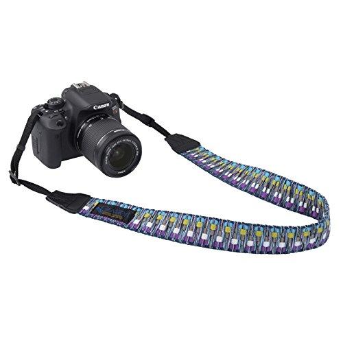 Gevaertカメラストラップビビッドシャギーブルー/パープルVGV-004