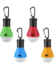 Camping Tent light, Camping Tent Portable LED Lamp, Battery Powered Emergency Lighting, Hook Hanging Lamp,Indoor and Outdoor can be Used (4 colors)…