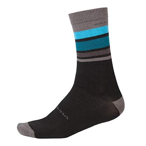 Endura BaaBaa Merino Streifen Socken - Red Größe L/XL