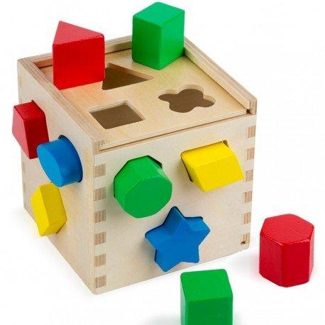 Melissa and doug - Jouet en bois Boîte à encastrer les formes 14 pièces Jouet d'éveil éducatif Enfant 2 ans