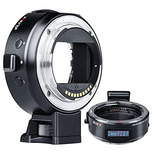 VILTROX Adaptador de objetivo EF-E5 para enfoque automático compatible con objetivos Canon EF/EF-S a cámara Sony E-Mount A9 A7III A7RIV A6500