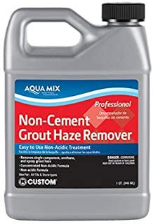 Aqua Mix Non-Cement Grout Haze Remover - Gallon - Remove Single Component, Premixed, Urethane, and Light Epoxy Residue - Grout Haze Cleaner for Granite, Slate, Ceramic, Porcelain and Natural Stone