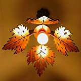 US DZIRE Hanging Lamp Comes With Canopy,Screw,grip,bulb (Golden Yellow Light) Indian Traditional Holder & Cotton Wire, Can Be Adjusted Up & Down. QC Passed HI-Density HDF wood Material and Light Weight. *This Lamp Required Assembly Easy within a minu...