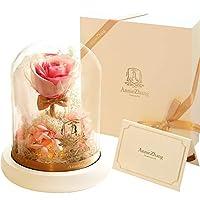 Materiale: fiori vita eterna Tipo: bouquet Processo: conservato fiore Varietà: Rosa Colore: rosso AZ001-, AZ001- gradiente di colore rosa, AZ001- gradiente viola, beige AZ001-