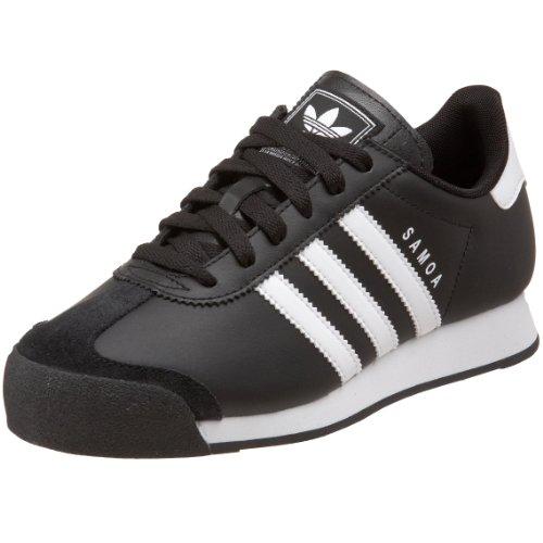 adidas Originals Samoa Sneaker (Little Kid/Big Kid),Black/White/Black,3.5 M US Big Kid