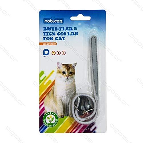 Collar antiparasitario para gato contra pulgas y garrapatas y ácaros – Medida 36 cm con sistema antiasfixia y reflectante