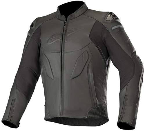 Alpinestars Motorradjacken Caliber Leather Jacket Schwarz, Schwarz, 48
