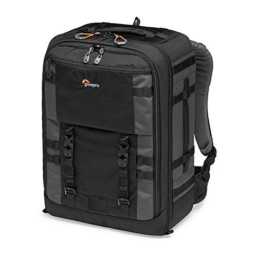 Lowepro LP37269-PWW Pro Trekker BP 450 AW II Outdoor Camera Backpack with MaxFit Dividers, Fits 15-inch Laptop/iPad, for Pro Mirrorless and DSLR, Gimbal, Drone, DJI, Black/Dark grey