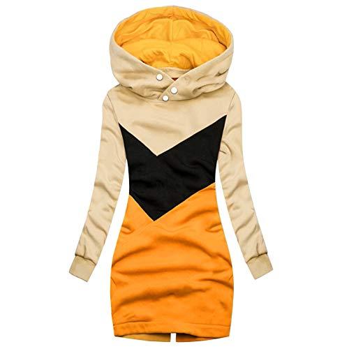 Kobay-Damen Herbst Winter Freizeit Warm Bequem Damenmode Solid Jacket Zipper Pocket Sweatshirt Langarmmantel