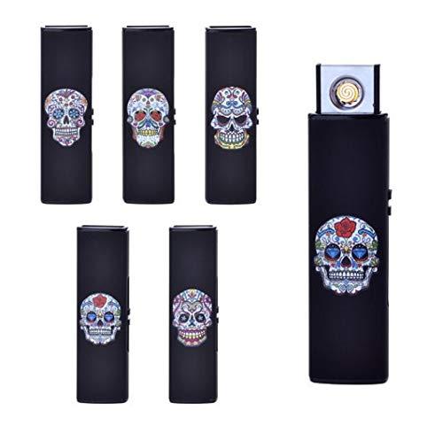 CHAMP Black Skull USB Feuerzeug Electronic Rechargeable Verschiedene Ausführungen
