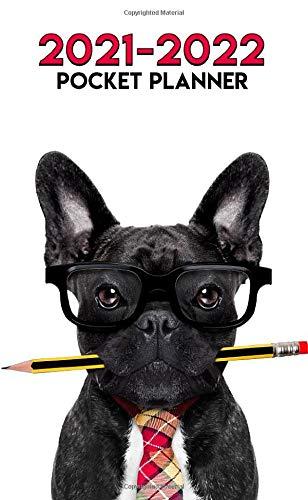 2021-2022 Pocket Planner: Smart Frenchie Dog Two Year (24-Months) Monthly Organizer Calendar Agenda - French Bulldog Print
