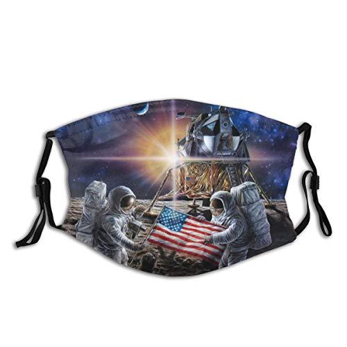 Mysterious Sci-Fi Apollo 11 Washable Cloth Face Mask Balaclava Reusable Outdoors Fashion for Unisex