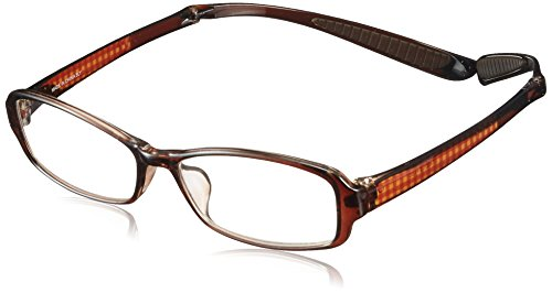 折りたたみ首掛け老眼鏡 スクエア ブラウンチェック LT-6501-2 度数(+2.00)