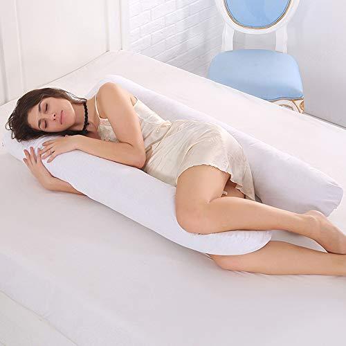 pedkit - Almohada de Embarazo Almohada de Maternidad en Forma de U con Funda de algodón Lavable para Dormir de Lado y aliviar el Dolor de Espalda