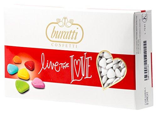 Buratti Confetti al Cioccolato, Coriandoli Bianchi - 1000 g