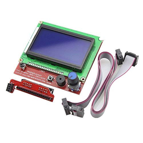 AOICRIE LCD 12864 Graphic Smart Display Controller Board with Adapter and Cable for 3D Printer Ramps 1.4 RepRap 3D Printer Mendel Prusa Arduino