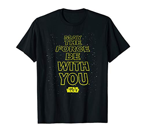 Star Wars May The Force Be With You Quote T-Shirt
