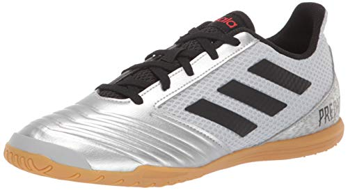 adidas Men's Predator 19.4 in SALA Soccer Shoe, Silver Metallic/Black/hi-res red, 7.5 M US