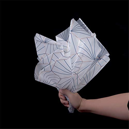 Fruit inwikkelpapier, diner dress verpakkingsmateriaal glazen schaal verpakking liner kleurstrepenpatroon drie kleuren 23,6 x 23,6 inch 60 * 60CM C