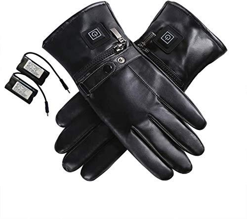 Drohneks - Pantalla táctil de guantes térmicos para hombre y mujer, temperatura 3 velocidades, moto, bicicleta, esquí, mujer