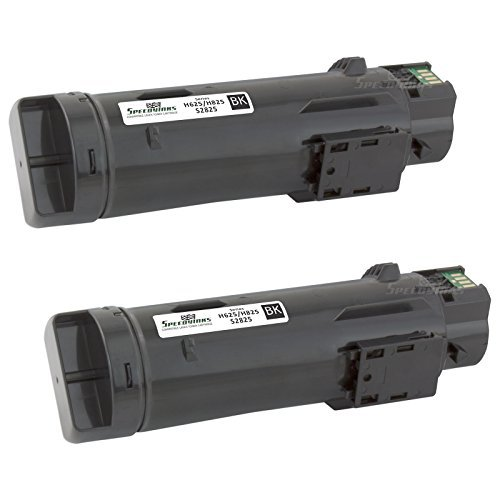 Speedy Inks Compatible Toner Cartridge Replacement for Dell H625/H825 (Black, 2-Pack)
