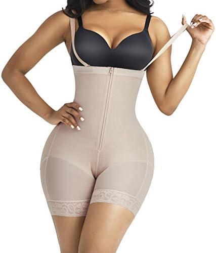 FeelinGirl Women s Latex Waist Trainer Bodysuit Tummy Triple Control Shapewear Full Body Shaper product image