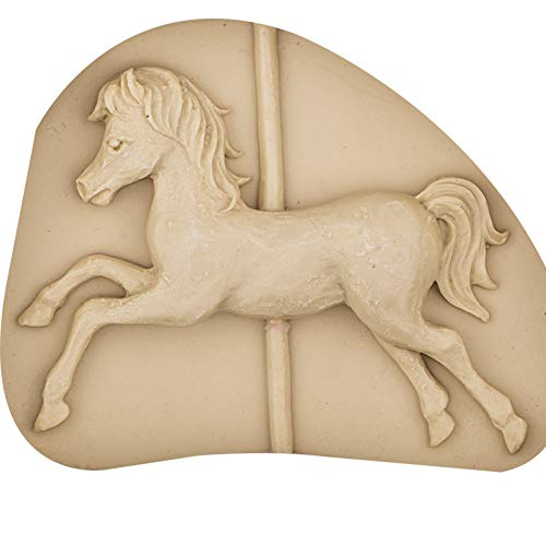 ZPZZPY Carousel Horse 3D Silicone Mold Mould For,Candy,Chocolate,Ice,Cake Decorating Tools