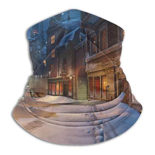 nxnx Sombreros Resistentes, Bufanda de Tubo, Navidad Snow Street Deportes al Aire Libre Calentador de Cuello Diadema BandaBalaclava