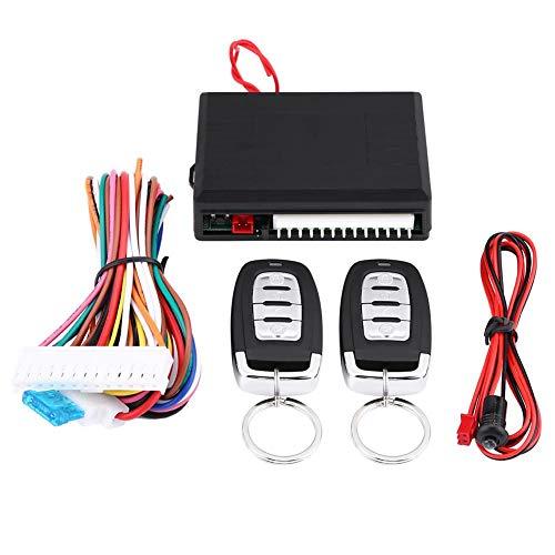 Qiilu Systèmes de verrouillage centralisé d'entrée sans clé de voiture serrure de porte verrouillage central kit de contrôle à distance universel