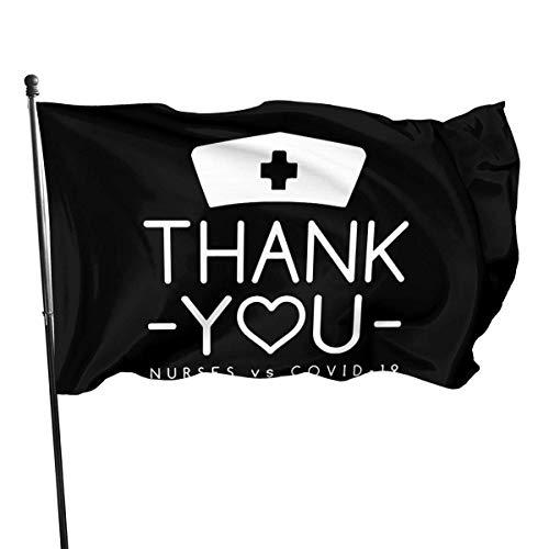 GYUB Thank Nurses - Nurses Vs Corona-Virus Flag 3 X 5 Flag for Yard Decoration Banner