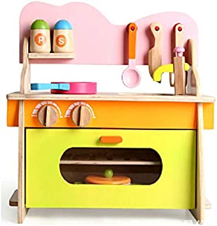 XYRONG Wooden Simulation Kitchen Disassembly Gas Stove Taiwan Children Play House Educational Toys Kitchen Utensils Retro Wooden Children s Kitchen And Role Playing