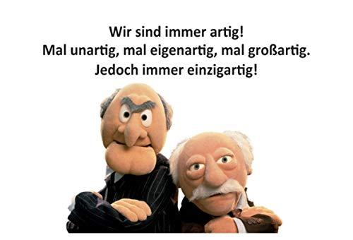 Blechschild 20x30cm gewölbt Waldorf Statler Muppets Wir Sind Immer Artig Deko Geschenk Schild