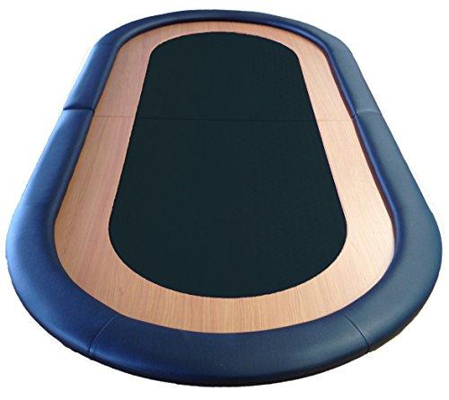 Mesa plegable Poker paño velocidad particularmende descansa 8 jugadores superficie cuero negro