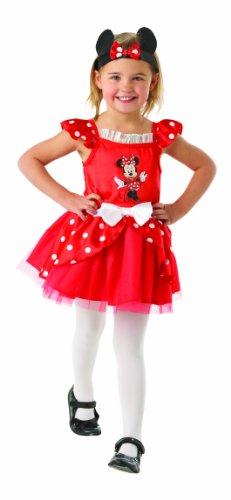 Rubie's-déguisement officiel - Disney- Déguisement Costume Minnie ballerine Rouge - Taille 18-24 mois- 881871