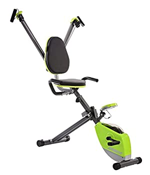 Stamina Wonder Exercise Bike | Build Upper and Lower Body Strength on One Machine | Includes Two Online Workout Videos Chartreuse and Gray