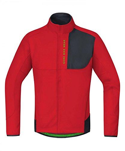 Gore Bike Wear Chaqueta Thermo MTB, Hombre, Windstopper Soft Shell, Power Trail, Talla M, Rojo/Negro, JWPOTR